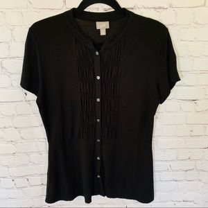 J.Jill Black Top Size Medium